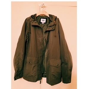Old Navy Anorak Olive Green Jacket size small
